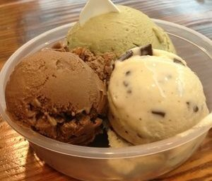 Chocolate cream cheese walnut, pistachio, and mint chocolate chip